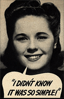 Cheesy old ad with a young woman saying - so simple